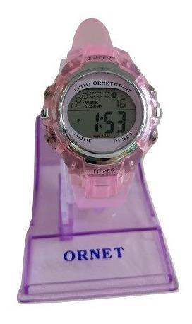 mejores zapatillas de deporte 82124 e9690 Reloj Ornet Mujer Digital Caucho Rosa Wr30m Garantia Oficial ...