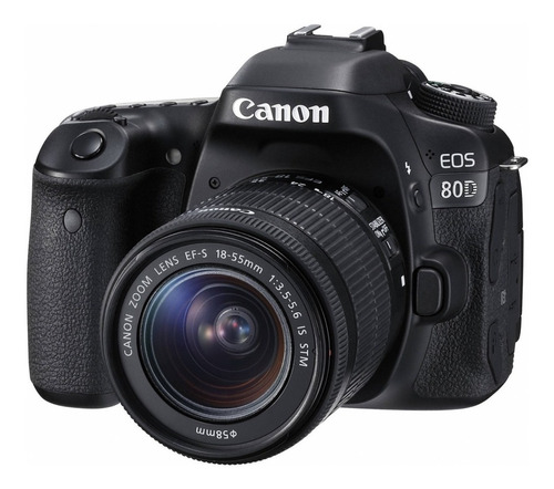 Canon  Eos 80d 18-55mm Is Stm Kit Dslr Negra