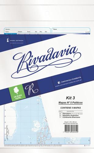 Rivadavia 8783 Mapas N°5 Político Kit 3 X5