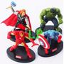 Set Avengers Vengadores Iron Thor Hulk America Para Torta