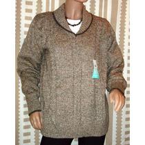 Sweater P/dama Mauro Sergio Escote En V Oferta Imperdible!!