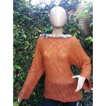 4 Sweater X Mayor Tejido Artesanal Aplique Piel $300
