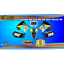 Kit Calcos Suzuki Rm 125 96/98 Con Laminado Anti Rayas