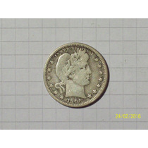 Estados Unidos 1/4 Dólar Plata 1908 O Muy Linda