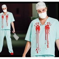 Disfraz Enfermero Sangriento Terror Obras Fiesta Clubs Cumpl