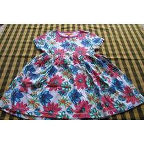 Vestido De Mangas Cortas Para Nena, Marca Europea!!!, Casi N