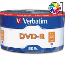 Dvd-r Verbatim Estampado 4,7gb 16x Bulk Cerrado 50 Unidades