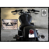 Manubrio Z Negro 10cm Moto Chopper Custom Harley