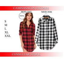 Camisa Largas Escocesa Leñadora - Talles S - M - L - Xl