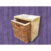 Cestos De Mimbre Con Cubo Apilable - Koalo Muebles