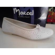 Zapatos Balerinas Cuero Marcel Nenas Comunion Fiestas 27a33