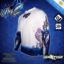 Remera De Pesca Deportiva Go Fish Mod. Big Game (marlin)