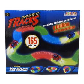 Pista Magnific Tracks Mediana 165 Pzas Auto C/luz 90165 Full