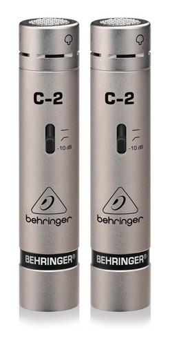 Set De Micrófonos Behringer C-2 Condensador Plateado