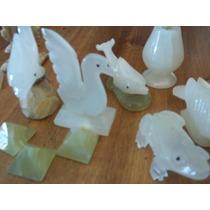 Lote 12 Figuras De Piedra Onix