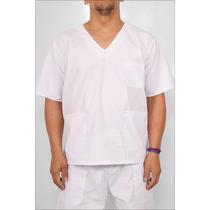 Chaqueta Escote V Manga Corta Liviana ( Medicos/enfermeros)