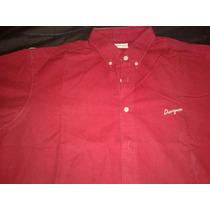 Camisa Chevignon Manga Larga Color Tomate Talle L Envio Pais