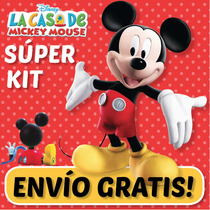 Super Kit Imprimible Casa Mickey Mouse. Invitaciones, Cumple