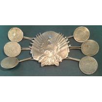 Rastra Platada Monedas Rio De Plata Criollo Escudo Federal