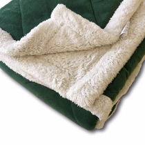 Acolchado Super Soft Con Corderito 1 1/2 Plazas Verde