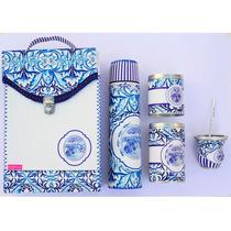 Equipo De Mate / Set Matero Azulejo Positivo Design