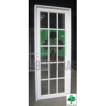 Aberturas: Puerta Aluminio Blanco Vidrio Repartido 80 X 2,00