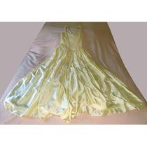 Liquido!!! Vestido De 15 Corte Princesa, Color Amarillo