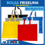 Bolsas De Friselina 80grs Sin Impresion 40x45x10cm