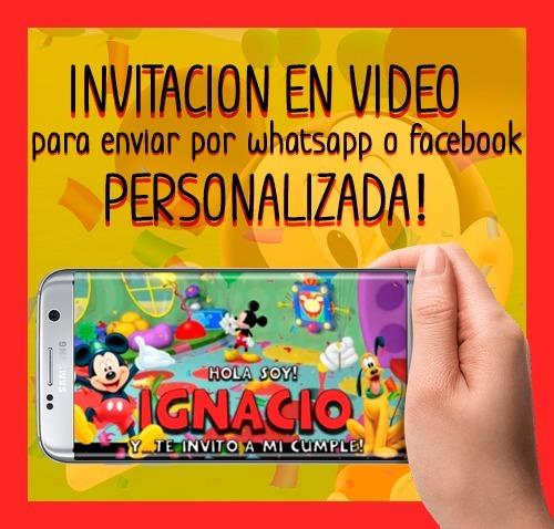 cec4e8c2c4a6a Invitaciones De Cumpleaños Online - Mickey Mouse.   220