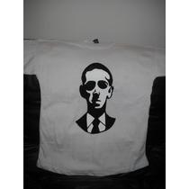 Remera Pintada A Mano Con Imagen De H.p Lovecraft