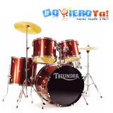 Batería Acústica Completa Thunder Jbp0901 Platillos Fierros