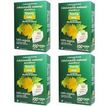 Edulcorante Stevia En Sobres X 100 Pack De 4 Unidades
