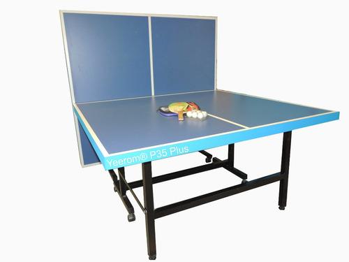 Mesa de ping pong plus plegable reforzada 8 ruedas yeerom fs2ae precio d argentina - Mesa ping pong plegable ...