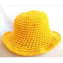 Sombrero Gorro Piluso De Lana Tejido Crochet
