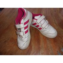 Zapatillas De Cuero Con Abrojo De Nena Talle 34
