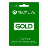 Suscripcion Xbox Live 12 Meses Digital