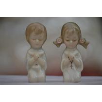 Nenes Rezando,souvenir De Comunion En Porcelana Horneada