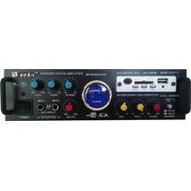 Amplificador De Sonido Audio Karaoke Usb 1 Microfono Regalo