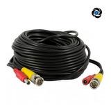 Cable Cctv 20mts 20m Video Hd + Alimentacion Plug Hikvision Tvi Dahua Cvi Ahd Armado