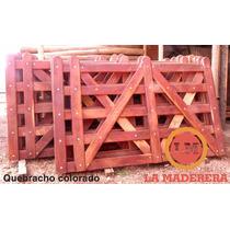 Tranquera Portón Madera Quebracho Colorado 1,30 X 2,50 Mt.