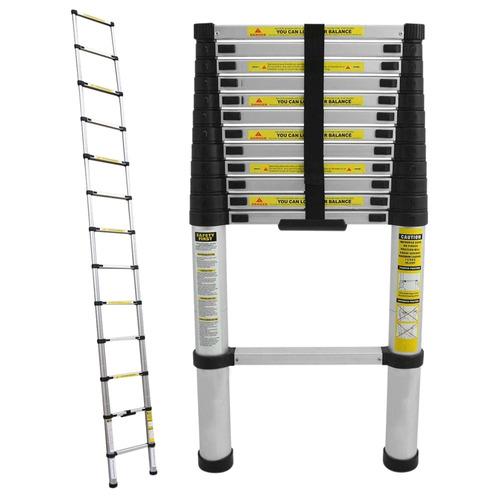 Escalera telescopica aluminio plegable 12 escalones 3 8 for Precio escalera telescopica aluminio