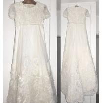 Vestido De Novia Tela Única Francia Romantica Bordada C Tul