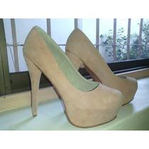 Zapatos Stiletto Rosa Talle 39 Altura 15 Cm