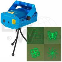Mini Láser Audiorítmico Verde Y Rojo, 150mw 4 En 1 (sd07a)!!