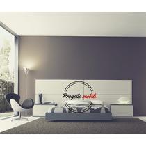 Dormitorio Moderno Cama Mesa Luz Box Sommier Progetto Mobili