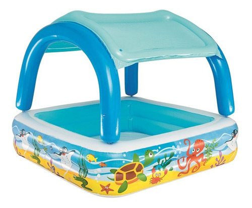 Pileta Bebe Inflable Con Techo Desmontable Bestway 52192 Pc