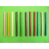 Barra Adhesiva Silicona Hot Melt Con Brillo Glitter X Unidad