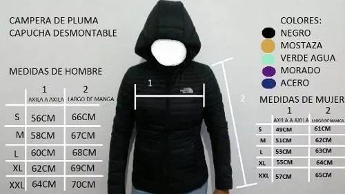 mercadolibre campera north face mujer pluma aa659bb1f18