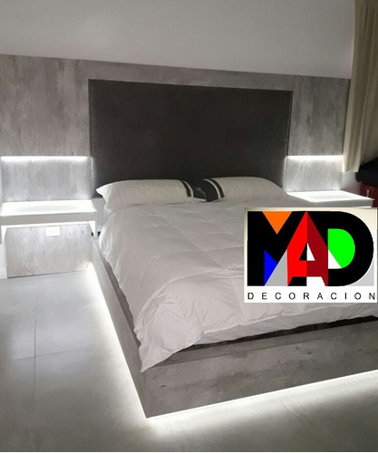 Cama King Size + Respaldo + Mesas De Luz + Mueble Lcd - $ 30000 en ...