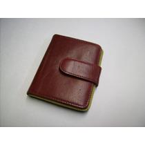 Porta-tarjetas De Crédito-portadocumentos-100%-cuero-rojo-